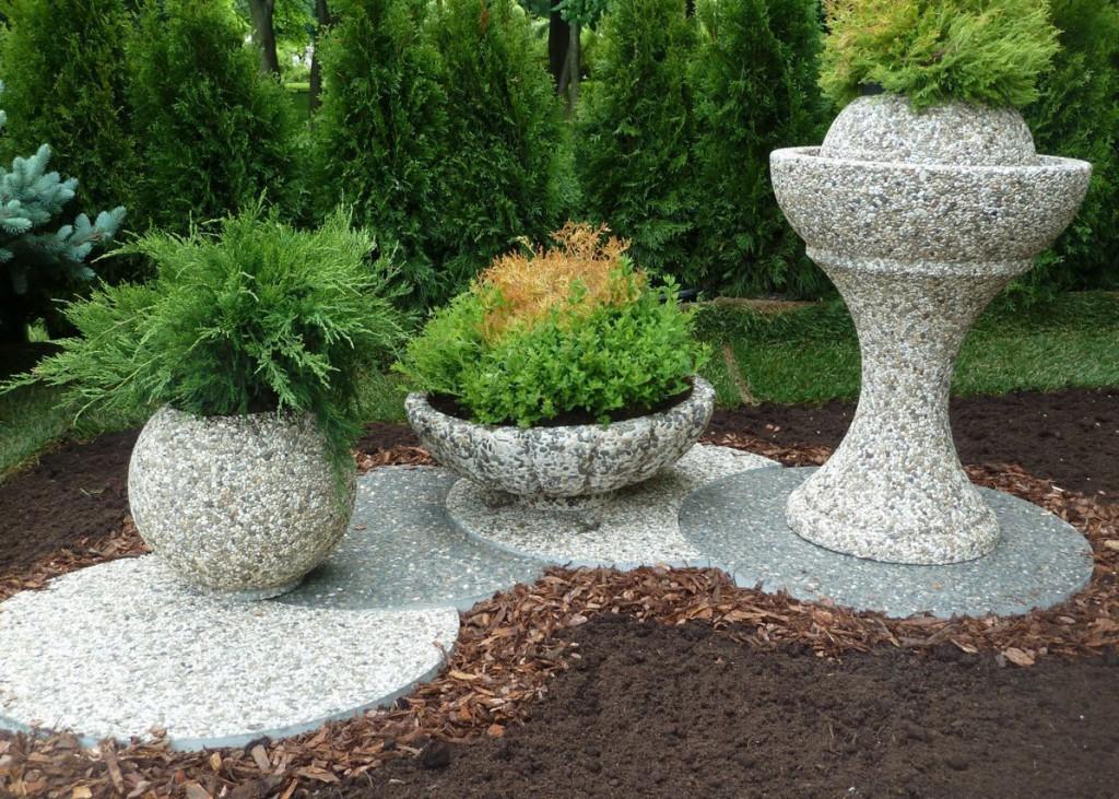 Малые формы из бетона в ландшафтном дизайне