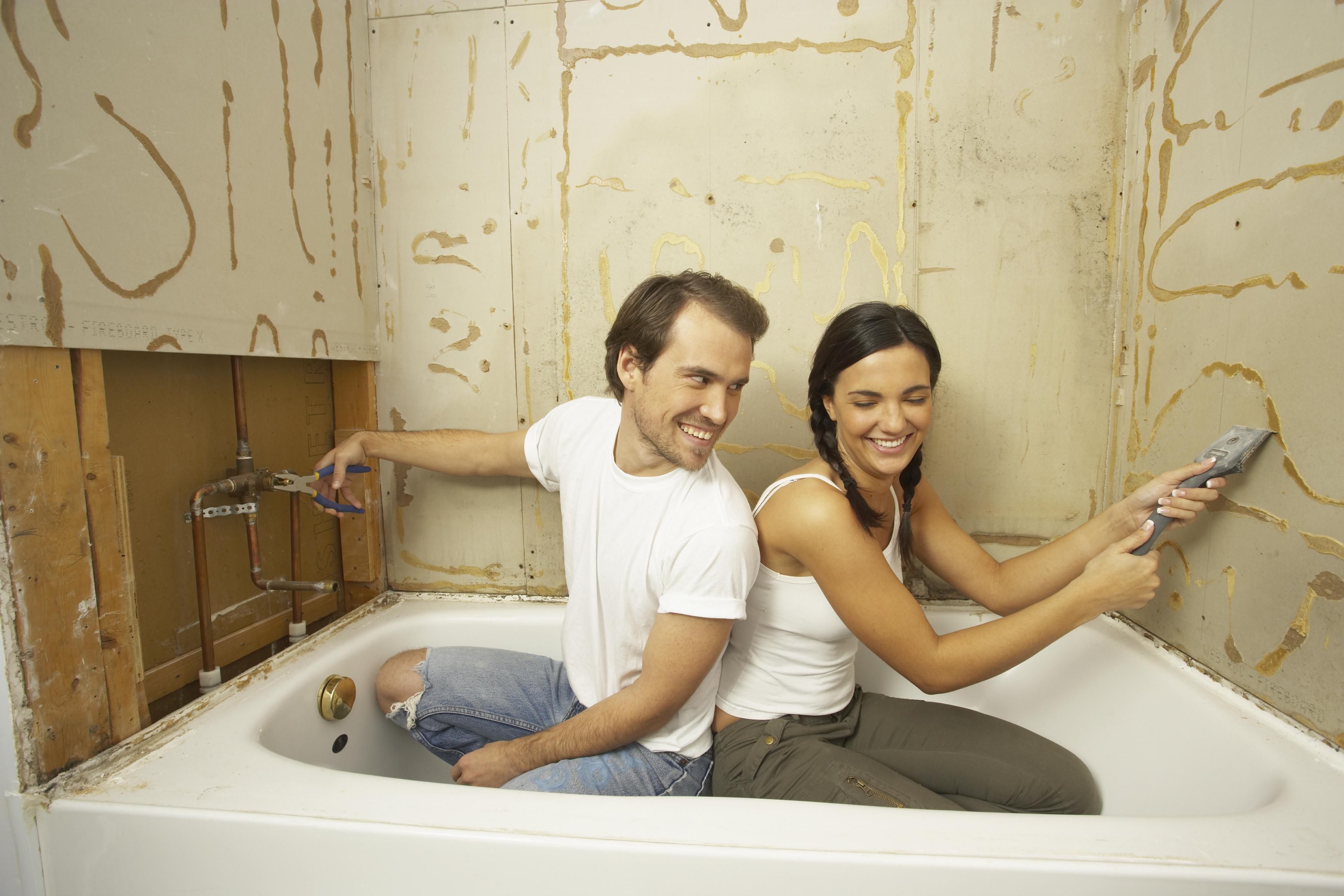 ремонт ванны в квартире своими руками фото