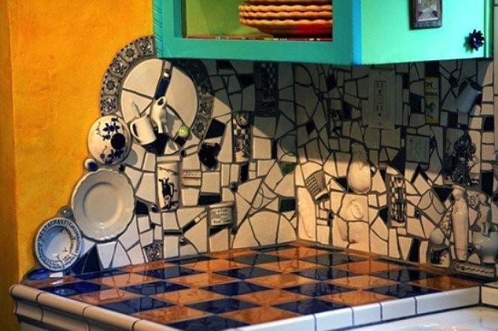 Мозайка из битой плитки – безотходное производство и творчество