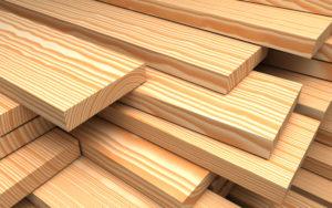 Wood boards. 3d illustration