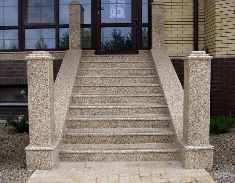 Как уложить гранитные ступени